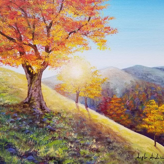 Pin By Sally Manich On Painting Landscape Painting Tutorial Autumn Painting Autumn Landscape
