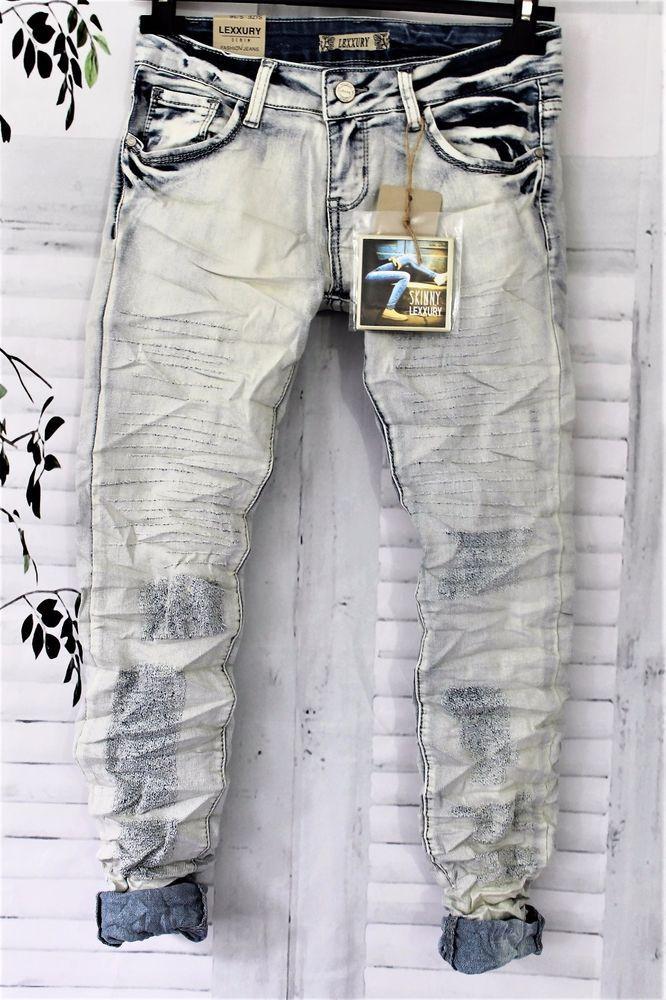 Skinny Jeans Lexxury gr. S   34 /  36   stonewashed destroyed Blogger  Fashion