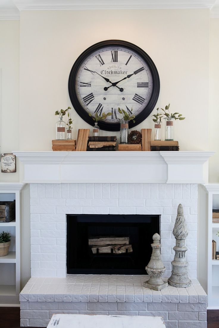 At home a blog by joanna gaines fireplaces magnolia for Over the mantel decor
