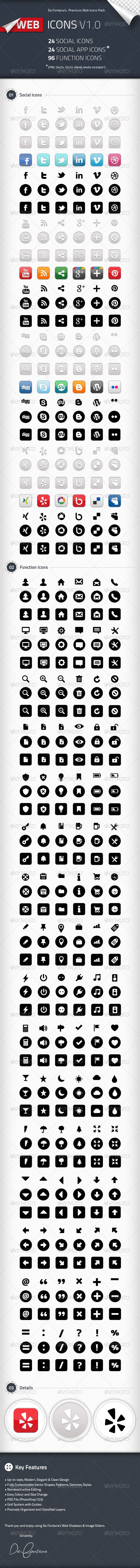 Social Icons, Social App Icons, Function Icons — Photoshop PSD #clean #vector • Available here → https://graphicriver.net/item/social-icons-social-app-icons-function-icons/2276501?ref=pxcr