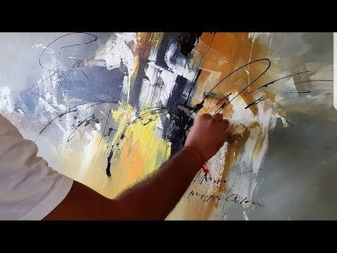 Abstract Painting / Acrylic Abstract Painting / Palette Knife / Demonstration – YouTube