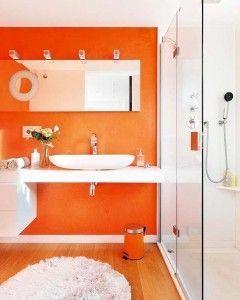 un s rotundo a los baos de color naranja orange bathrooms yes please