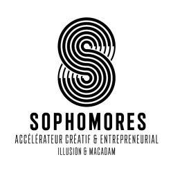 Logo de Sophomores  - Accélérateur créatif & entrepreneurial d'illusion & macadam.  Design : Marc Schmidt - Context