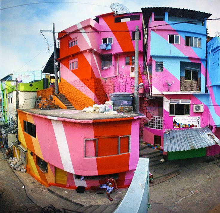 section of 'praça cantão, communidade da santa marta', 2010, rio de janeiro, brazil   image © favela painting project