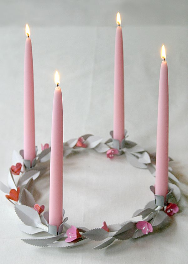 Valentine's Day Candle Centerpiece