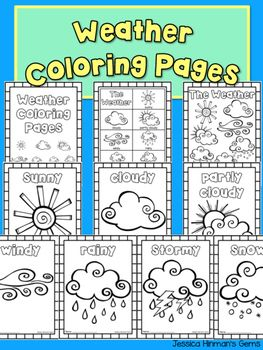 Weather: Weather Coloring Pages