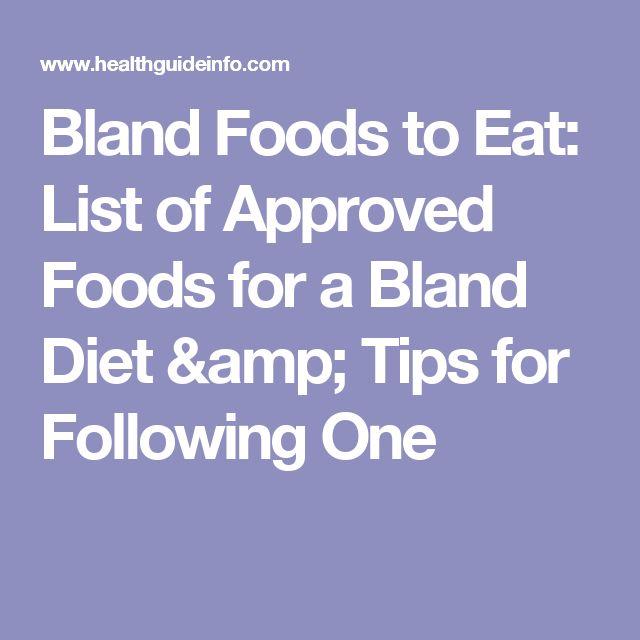 bland diet