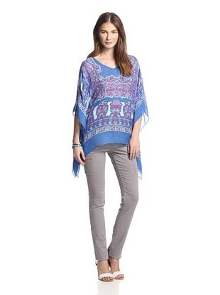 49% OFF Theodora & Callum Women's Inca Scarf Top (Blue Multi)