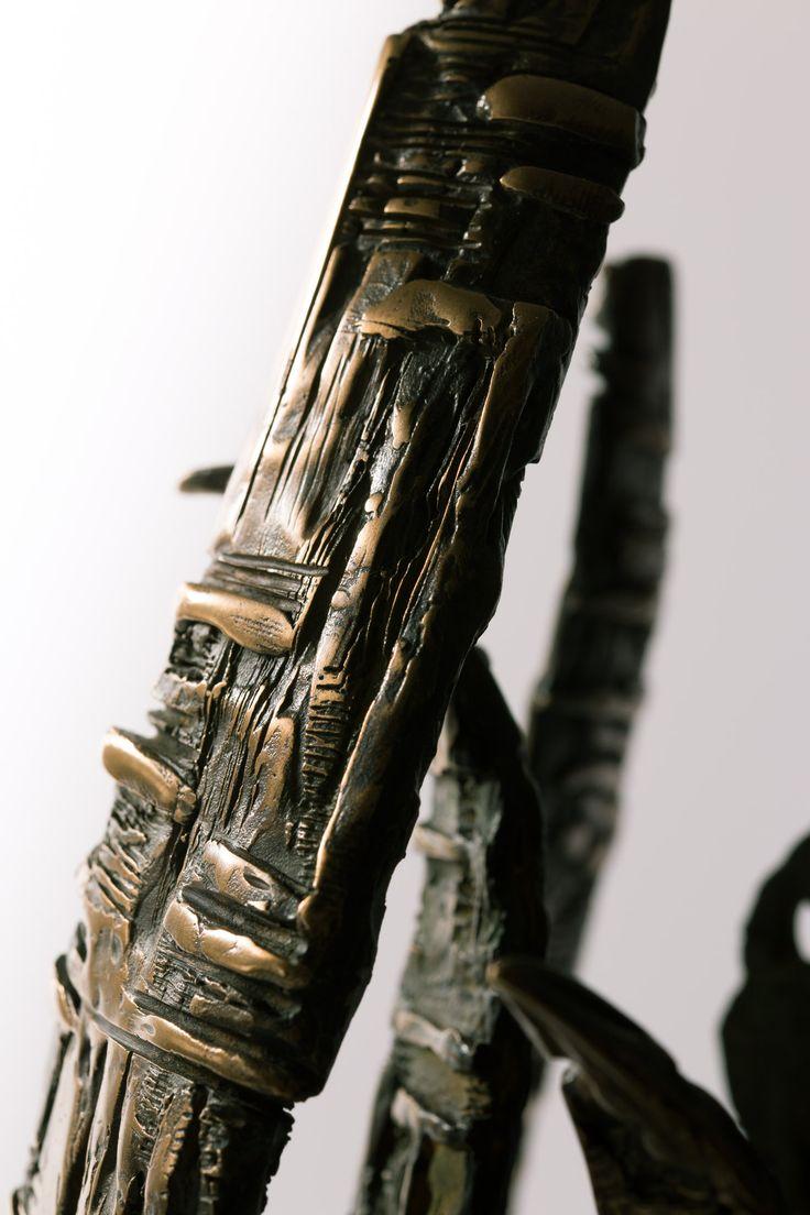 Filippo Vieri | VOCAZIONE: bronzo e marmo verde - 2005 - H. 45 cm. Photo: stefanocasati.com