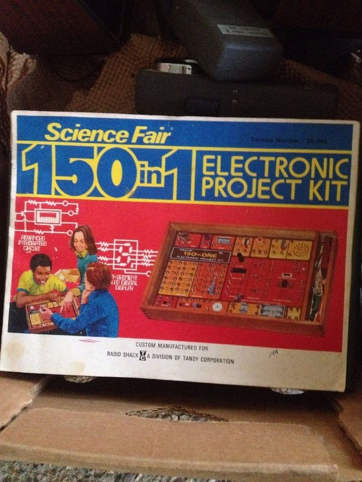 Vintage 1976 Science Fair 150 in 1 Electronic Project Kit Manuel Radio Shack  | eBay
