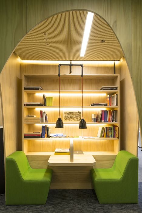 Google Madrid by Jump Studios #storage #cosy
