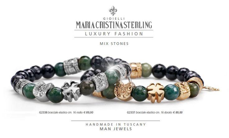 bracciali moda donna luckyou argento massiccio e pietre naturali made in Tuscany Italy by Alessandro Magrino
