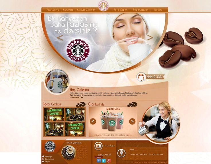 kahve web site tasarım - cafe - coffee - web design