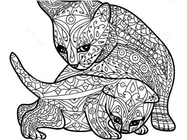 8 Quoet Coloriage A Imprimer Mandala Animaux Images Coloriage Mandala Animaux Coloriage Chaton Mandala Animaux