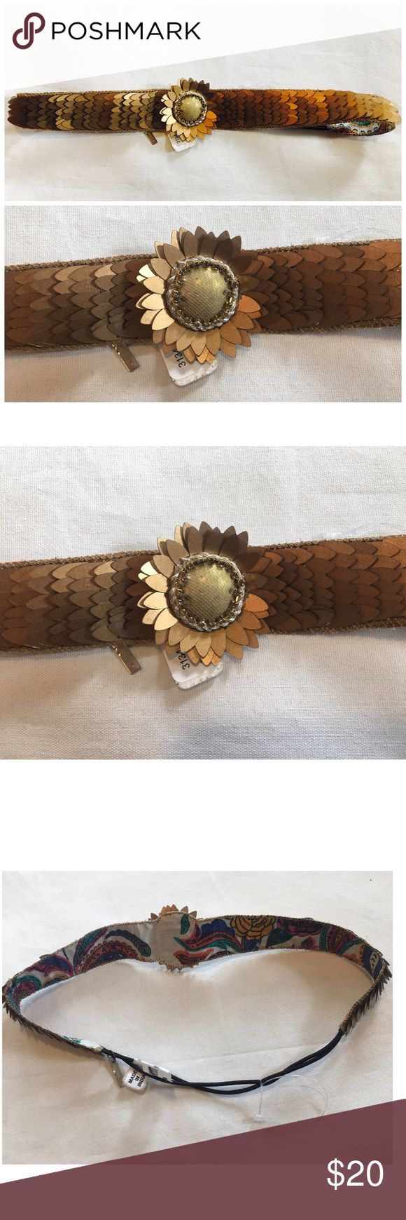 FREE PEOPLE DEEPA GURNANI SUNFLOWER HEADBAND BOHO FREE PEOPLE DEEPA GURNANI Headband. Perfect for festival season, gear up with the most important flower child accessory a golden sunflower Headband. Beautiful ❤❤❤ brand new with tag, the tag is marked. $38 retail Free People Accessories Hair Accessories