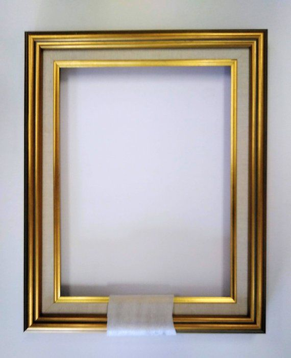 12 X 16 Gold Leaf Linen Liner Ornate Wooden Picture Frame Etsy In 2020 Wooden Picture Frames Wooden Picture Picture Frames