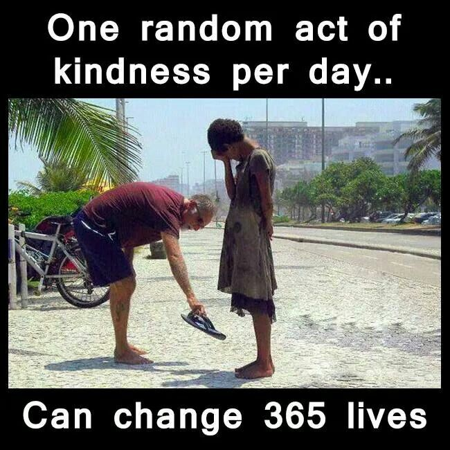 One Random Act Of Kindness At A Time Quote: One Random Act Of Kindness Per Day...