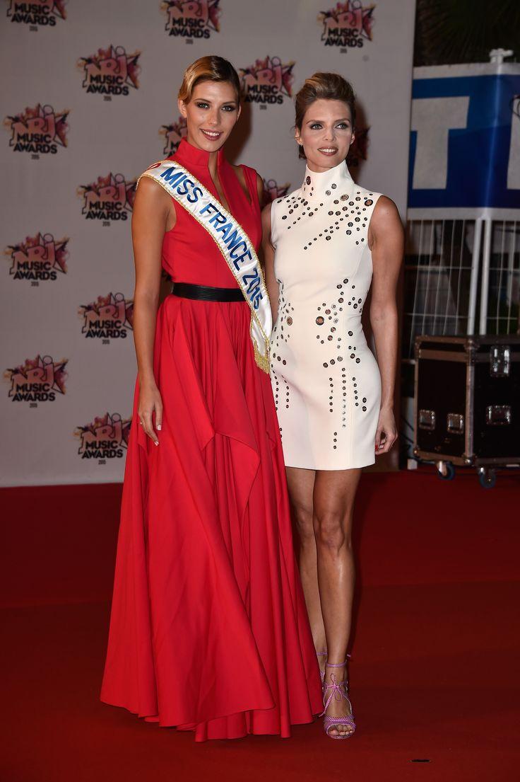 Camille Cerf et Sylvie Tellier aux NRJ Music Awards 2015.