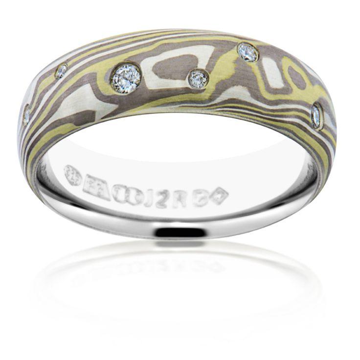 11 best Mokume Gane Diamond Rings images on Pinterest Diamond