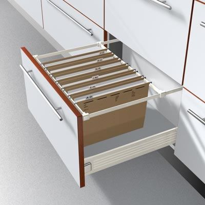 Metafile By Blum Converts Any Drawer Into A Filing Cabinet