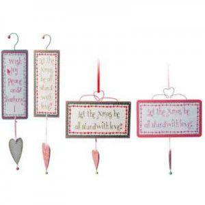 Ξύλινες πινακιδούλες με μήνυμα σε τέσσερα σχέδια