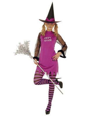 Halloween Kostume Kvinde lilla heks