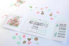 Cómo hacer invitaciones de boda con confeti explicado paso a paso en nuestro blog. Pincha en VISIT para aprender a hacer unas preciosas y originales invitaciones!
