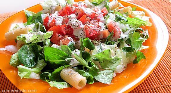 Ensalada verde con macarrones integrales http for Ensalada de pasta integral