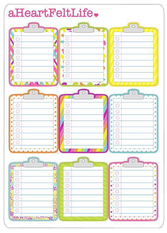 Candy Shoppe Clipboard Planner Stickers, Erin Condren Planner Stickers, Filofax, Kikki K, Scrapbook Stickers, Calendar Stickers, etc.