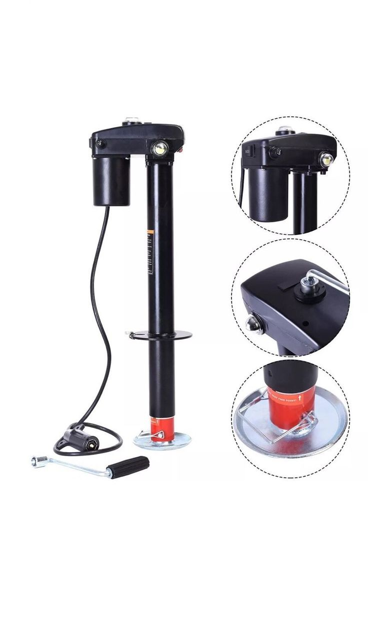 3500 lbs Electric Power Tongue Jack RV Boat Jet Ski A-Frame Trailer Camper 12V - Towing Systems