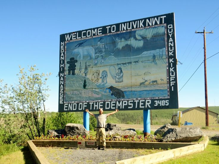 Welcome to Inuvik sign Dempster (1024x768)