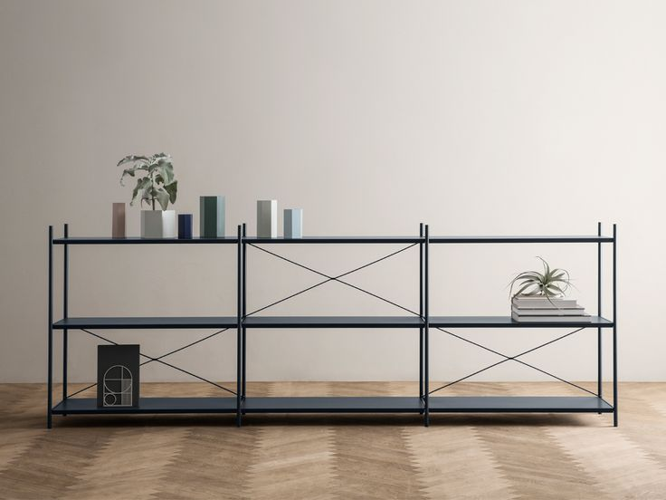 Punctual is a high quality shelving system from Ferm Living with powder coated metal elements soft colours.