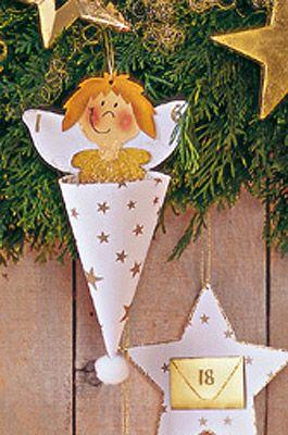 Adventskalender t ten engel basteln basteln und selber for Kindergarten weihnachtsbasteln