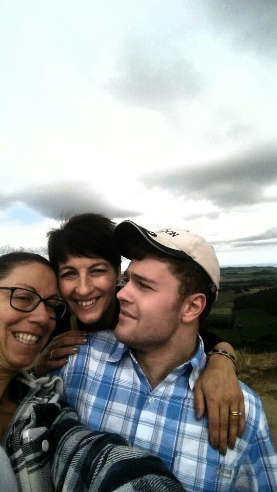 Selfie at the top of Roseberry Topping we made my sis Angelo and I whoop !