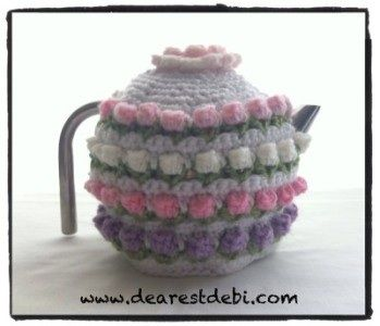 Crochet Rose Bud Tea Cozy - Dearest Debi Freebie: thanks sol xox