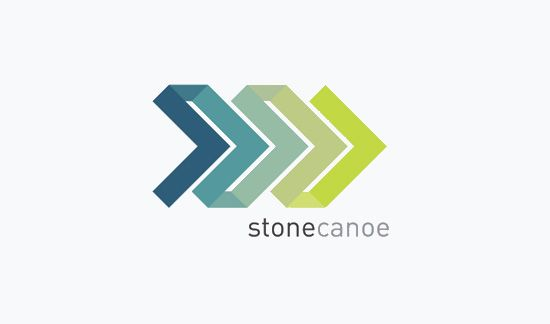 The color is the main selling point to this logo. It is a very nice gradient that is easy to look at, and the shape of the logo helps it flow on the page.