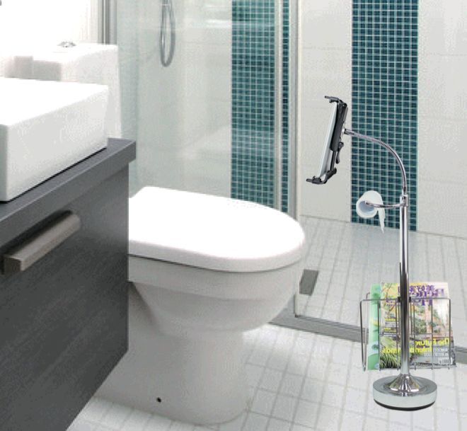 Bathroom Tablet Stand Toilet