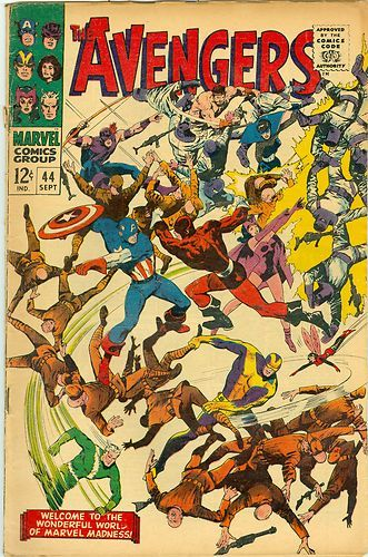 SILVER AGE 1967 AVENGERS #44 MARVEL COMICS DEATH of The RED GUARDIAN!!