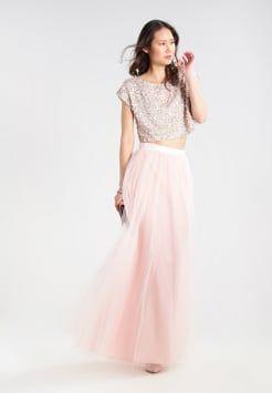 Blauw witte maxi jurk