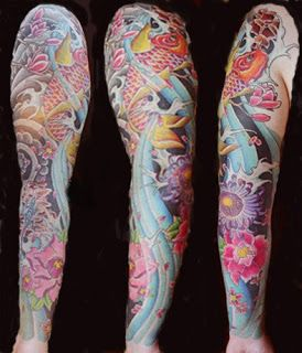 Cool Sleeve Tattoos With Image Japanese Sleeve Koi Fish Tattoo Design 1