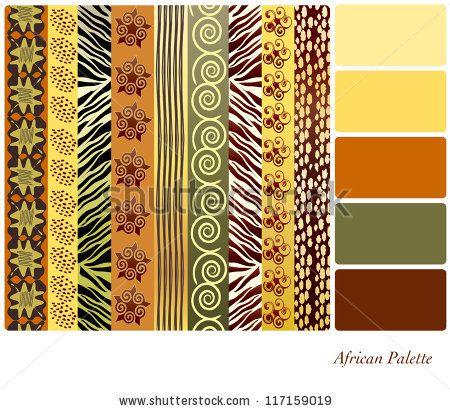 African color palette.