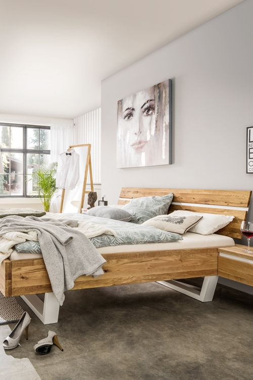 Die besten 25+ Bett eiche Ideen auf Pinterest Massiv bett, Bett - schlafzimmer eiche
