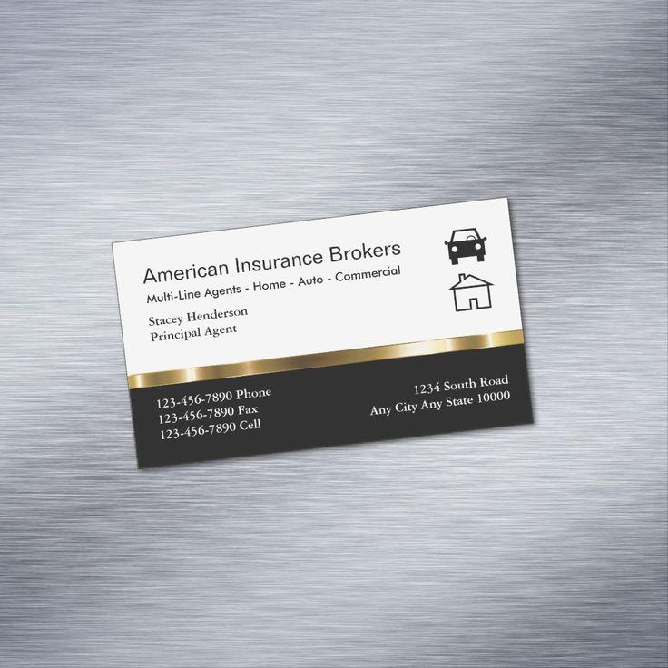 Insurance Broker Business Card Magnets | Zazzle.com ...