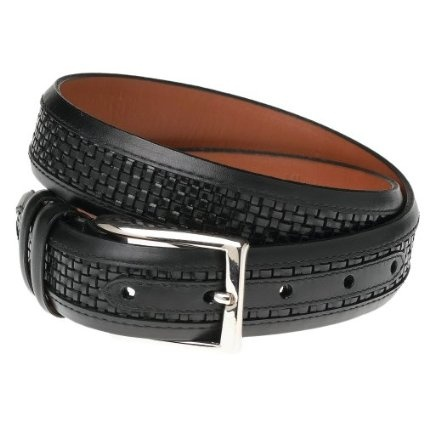"Allen Edmonds Men`s Woven Inlay Belt,Black/Black,38"" Waist: Edmonds Men S, Inlay Belt Black Black 38, Allen Edmonds, Edmonds Mens, Inlay Belt Black Black 34, Belts, Woven Inlay"