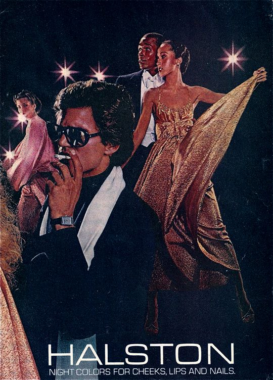 TONY SPINELLI IN THE FOREFRONT OF THIS HALSTON AD--SUCH A CRUSH ON HIM WHEN I WAS IN JUNIOR HIGH (BURT REYNOLDS WAS THE YEAR BEFORE!)