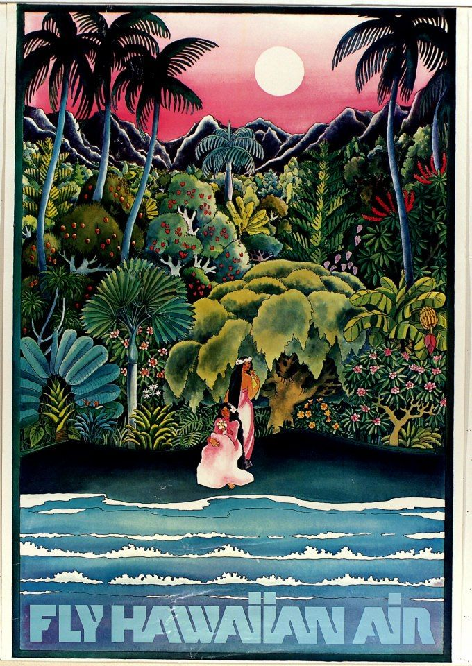 Vintage Hawaiian Air Poster