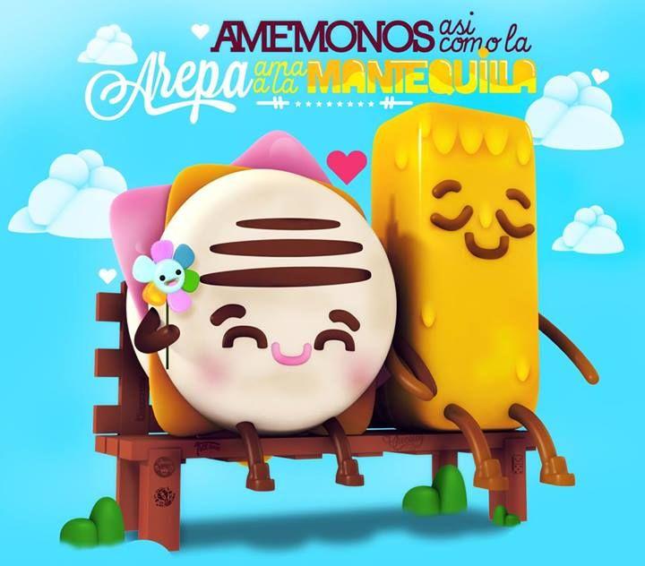 Amémonos así como la arepa ama a la mantequilla #Venezuela #paz vía @chocotoycute >>
