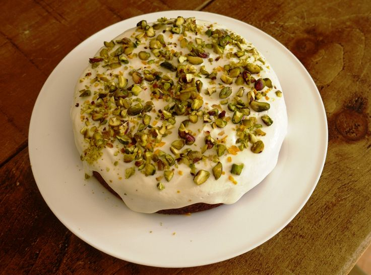 Orange, Pistachio & Polenta Cake - thelittleloaf