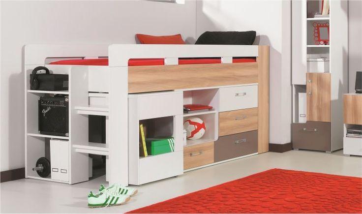 17 best ideas about lit mezzanine avec bureau on pinterest - Lit mezzanine bureau blanc ...