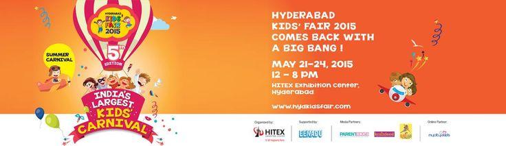Hyderabad Kids Fair 2015 on May 21st Book Now: http://goo.gl/Xh86bA #MeraEvents #KidsFair #Hyderabad